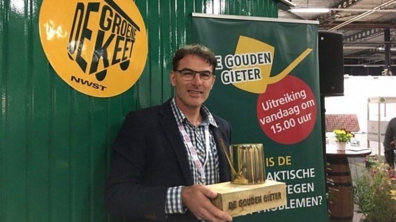 Drijvend terras van Aardoom Hoveniers wint de Gouden Gieter 2019!