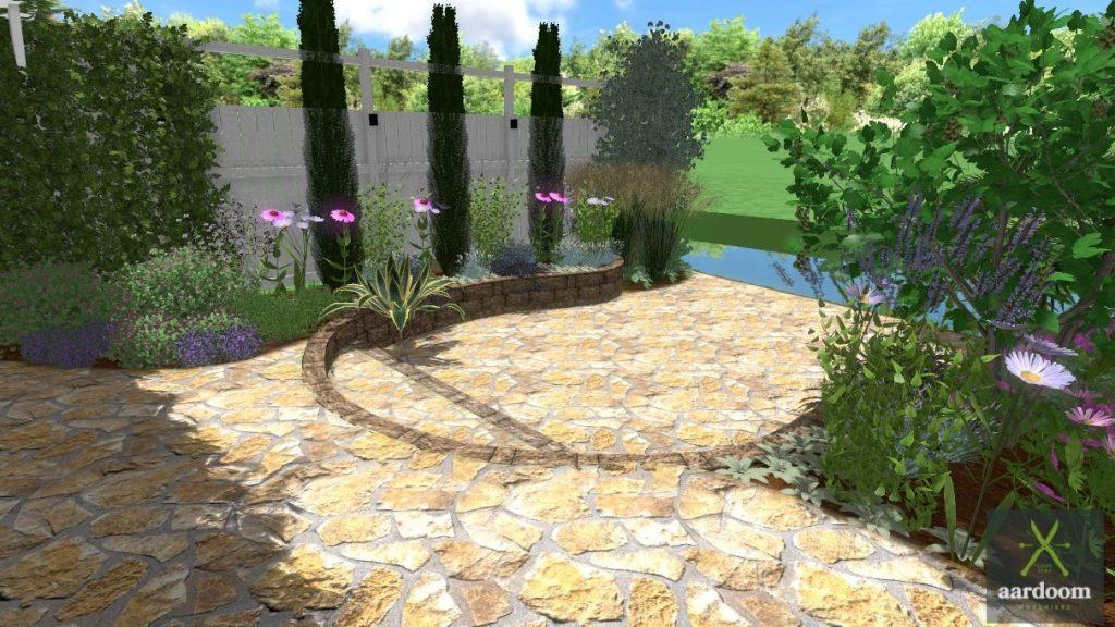 3D tuinontwerp Griekse tuin