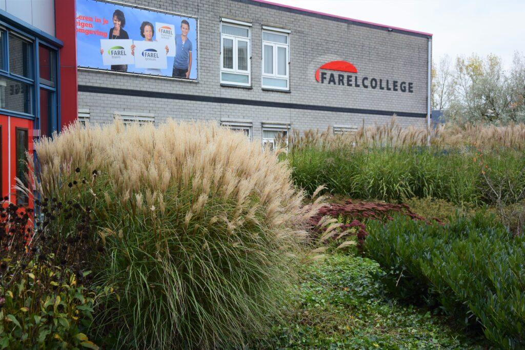 Farelcollege Ridderkerk - nieuwe situatie voortuin